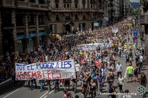 100.000 Menschen waren in Barcelona auf der Straße