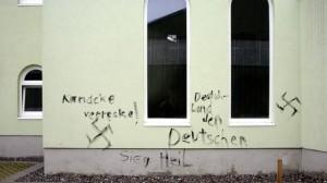 Rassistische Schmierereien an einer Moschee in Lindau