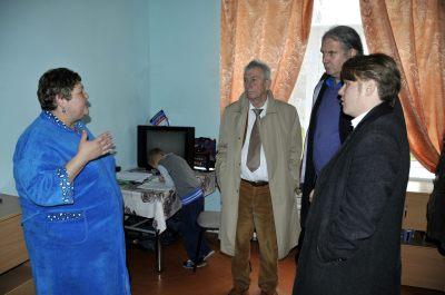 Im Gespräch mit Geflüchteten aus der Ostukraine.
