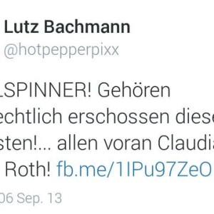 Tweet von Lutz Bachmann
