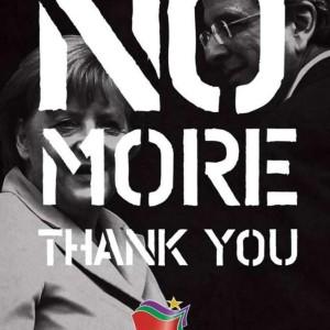 SYRIZA-Plakat gegen die Austeritätspolitik