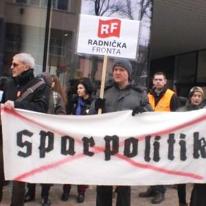 "Kroatien: Gegen die ""Sparpolitik""(Foto: Radnicka Fronta/ radnicka-fronta.org)"