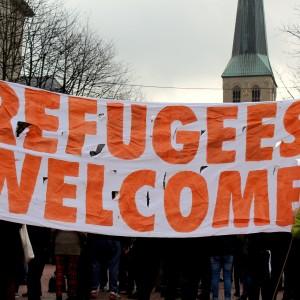 Solidarität mit Asylsuchenden, das war die Devise.