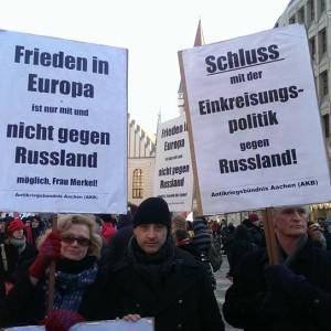 Alexander Neu bei den Protesten gegen die Sicherheitskonferenz