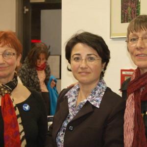 Annette Groth mit dem Knesset-Mitglied Hannen Zoabi und der Bundestagsabgeordneten Inge Höger - Quelle: Linke BW
