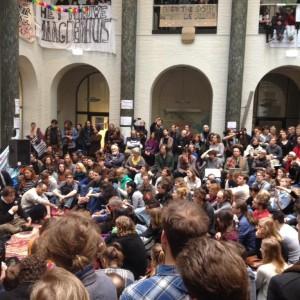Proteste der Neuen Universität - Foto: Ewout van den Berg