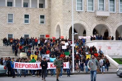Proteste in Tirana Foto: Për Universitetin