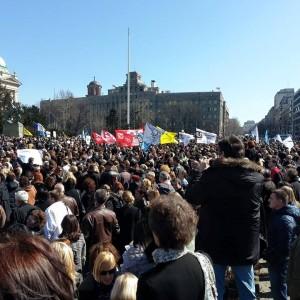 Serbien Lehrerstreik Levi Samit Srbije