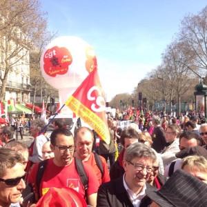 Jean Luc Melenchon von der Front de Gauche bei den Demonstrationen