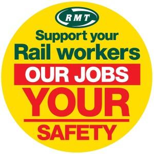 Werbung der Gewerkschaft RMT