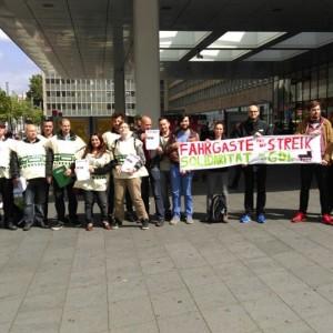 Solidaritätsaktion mit der GDL in Essen