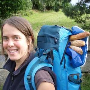 Christine Buchholz beim Wandern in den Vogesen