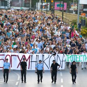 Makedonien Mazedonien Proteste Balkan