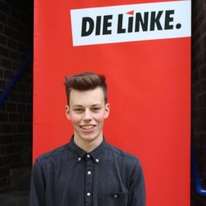 Julian Theiß (19 Jahre alt), Mitglied der Linken und Kandidat zur kommenden Landtagswahl in Rheinland-Pfalz.
