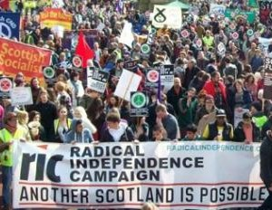 Radical Independence Campaign demonstration-a