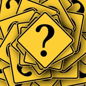 Fragezeichen Frage Schild Gelb