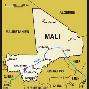 Karte von Mali - Quelle: Presse03  Lizenz CC BY-SA 3.0