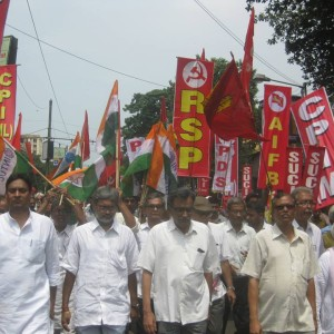 Streikdemo in West-Bengalen