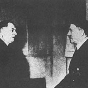 Milan Nedić (l.) mit Adolf Hitler (r.)