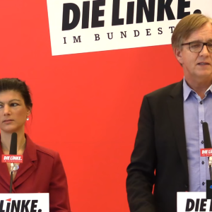 Sahra Wagenknecht und Dietmar Bartsch (Screenshot)