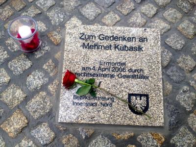 Die Gedenkstättea für den ermordeten Mehmet Kubasik n der Mallinckrodtstrasse 190 in Dortmund. Foto: Jimmy Bulanik