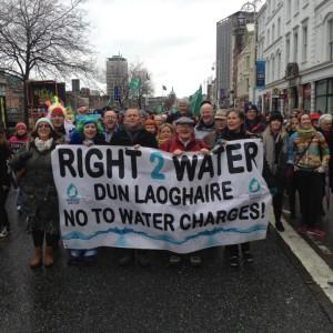 Richard Boyd Barret bei den Protesten