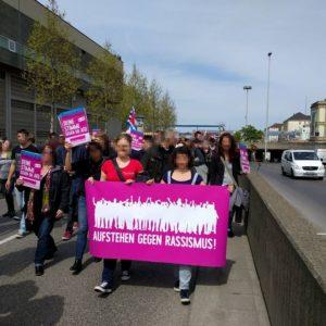 5.000 Demonstrierten gegen den AfD Bundesparteitag in Stuttgart, Foto: Dirk Spöri