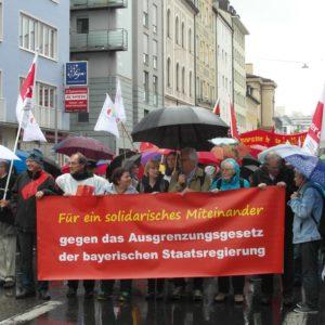 Proteste gegen das Integrationsgesetz