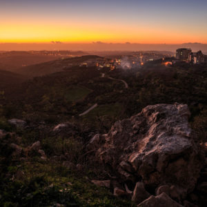 Blick von Nablus Richtung Mittelmeer. Freundlicherweise zur Verfügung gestellt von Philipp Blank, Blankerman.