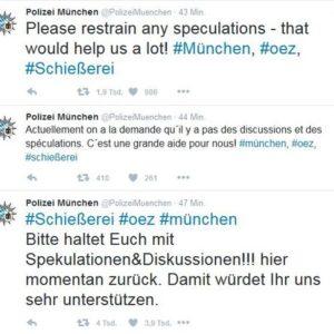 Polizei gegen Spekulation Quelle: Screenshot Twitter