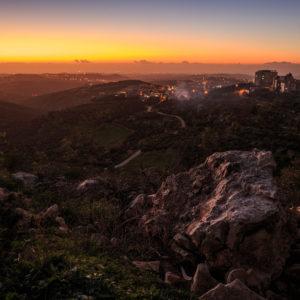 Von den Hügeln Nablus' in Richtung Mittelmeer. Freundlicherweise zur Verfügung gestellt von Philipp Blank, Blankerman.