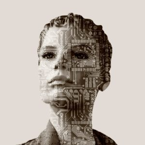 Frau Internet KI Künstliche Intelligenz Computer Bot