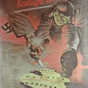 """""""Kadugu Bolševism"""" - Antikommunistisches Propagandaplakat: Der Faschismus als Verteidigung gegen bolschewistische Aggression. Eine These, die in ähnlicher Weise auch Ernst Nolte vertrat."""