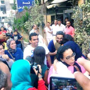 Mahienour el-Massry und Yousef Shaaban nach ihrer Haftentlassung - Foto: Revolutionäre Sozialisten