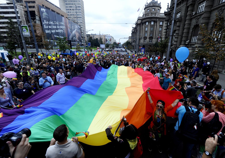 Ausgelassene Stimmung, Foto: Belgrade Pride 2015