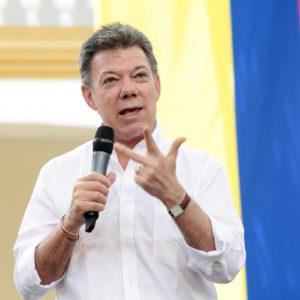 Präsident Santos, nun auch Friedensnobelpreisträger. Foto:  Ministerio TIC Colombia, licensed under CC BY 2.0, Presidente Juan Manuel Santos en Presentación de logros sector TIC, via flickr.com