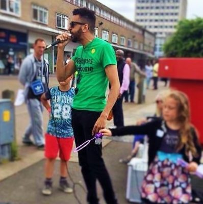 Adam Cochrane, Stand up to Racism Harlow